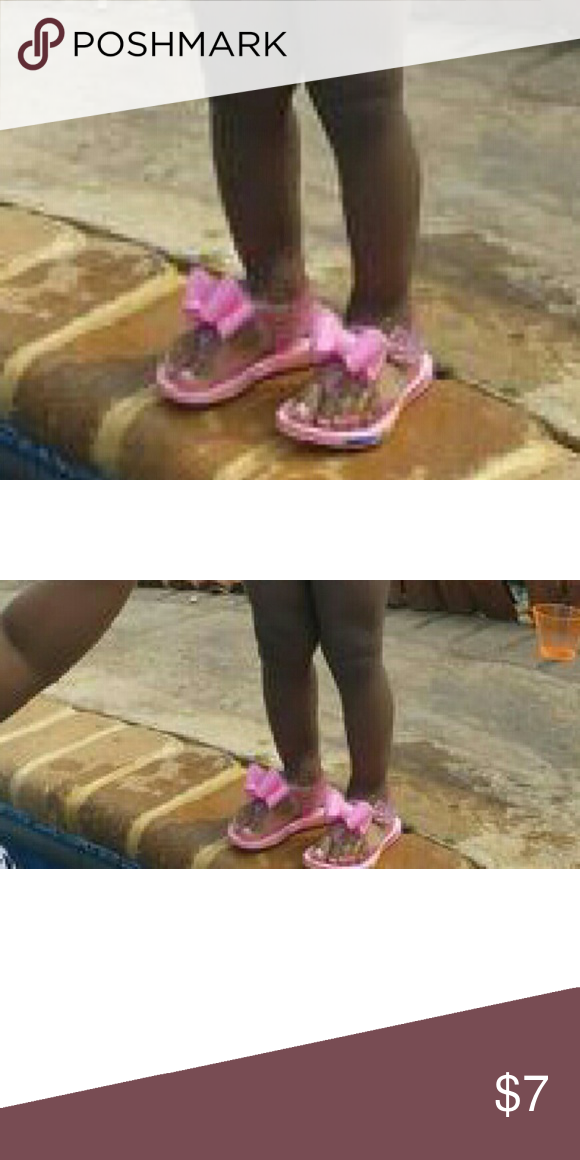 55aad835c Bow Jelly Sandals Jelly sandaks with large punk bow on top. Shoes Sandals   Flip  Flops