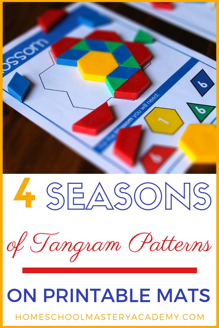 Make Unique Tangram Patterns On Vibrant Printable Block Mats Tangram Patterns Tangram Puzzles Tangram [ 1102 x 735 Pixel ]