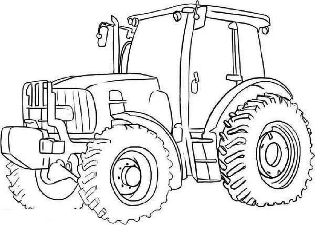 Free tractor coloring pages printable transportation for Tractor template to print