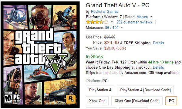 """iDailyDeals on Twitter: """"Deal: #GTA 5 For #PS4, #Xbox One, #PC Down To $39.99 From $60 [Limited Time Only] https://t.co/PS3QwL6ccN https://t.co/uKNORJhXKg"""""""
