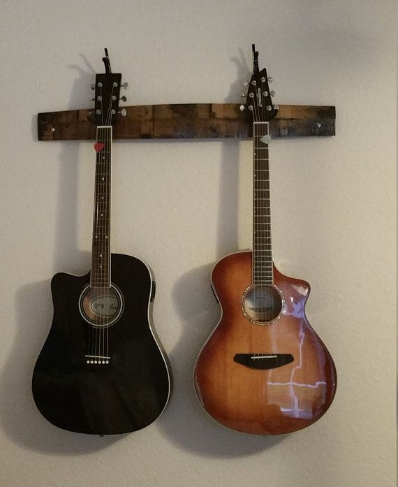Barrel Guitar Rack Handcrafted Arlo Holds 2 Guitars