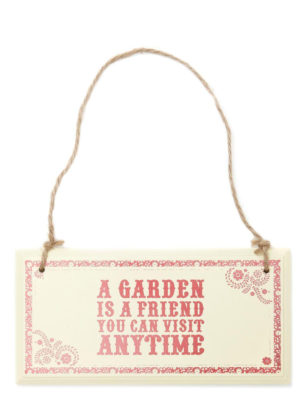 BHS - Outdoor Garden Sign   Garden Signs :)   Pinterest