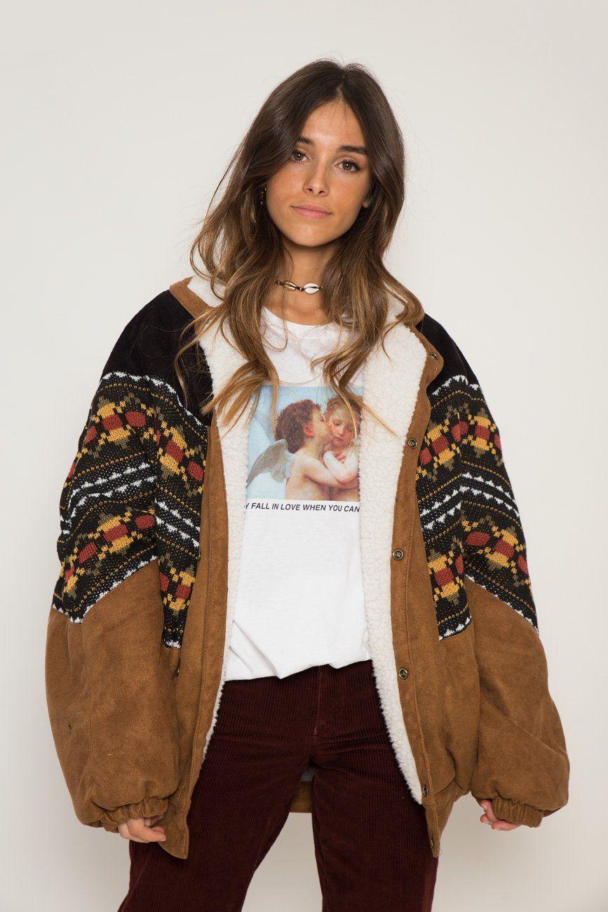 Abrigo Navajo Vancouver Vegan Bomber Jacket Vintage Vintage Jacket Buy Vintage Clothing [ 1300 x 867 Pixel ]