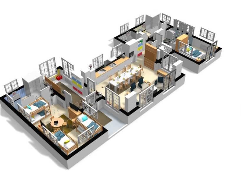 Free and online 3D home design planner HomeByMe Design