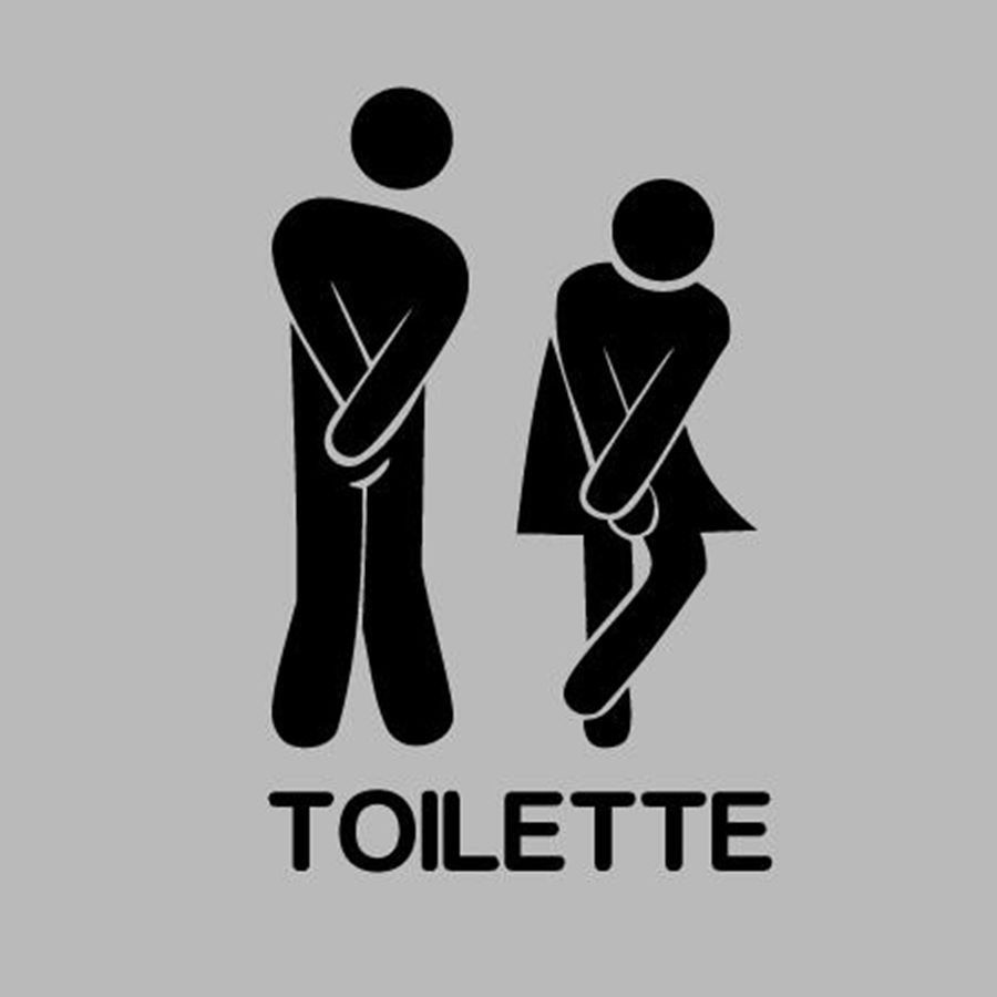 French wall stickers - Funny Toilet Entrance Sign Sticker for france ...