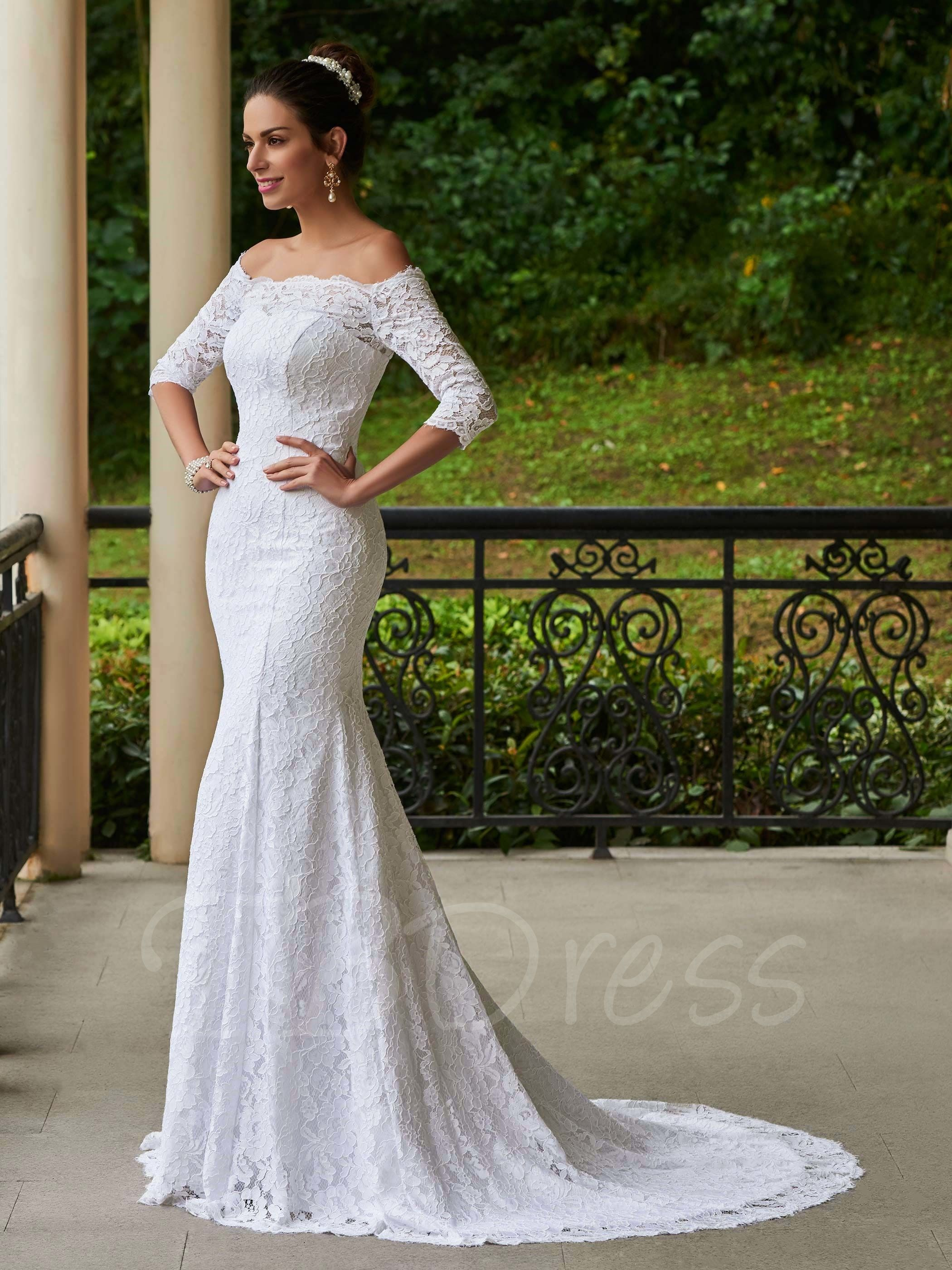 Off The Shoulder Mermaid Lace Wedding Dress With Sleeves Lace Wedding Dress With Sleeves Wedding Dresses Lace Wedding Dresses [ 2800 x 2100 Pixel ]