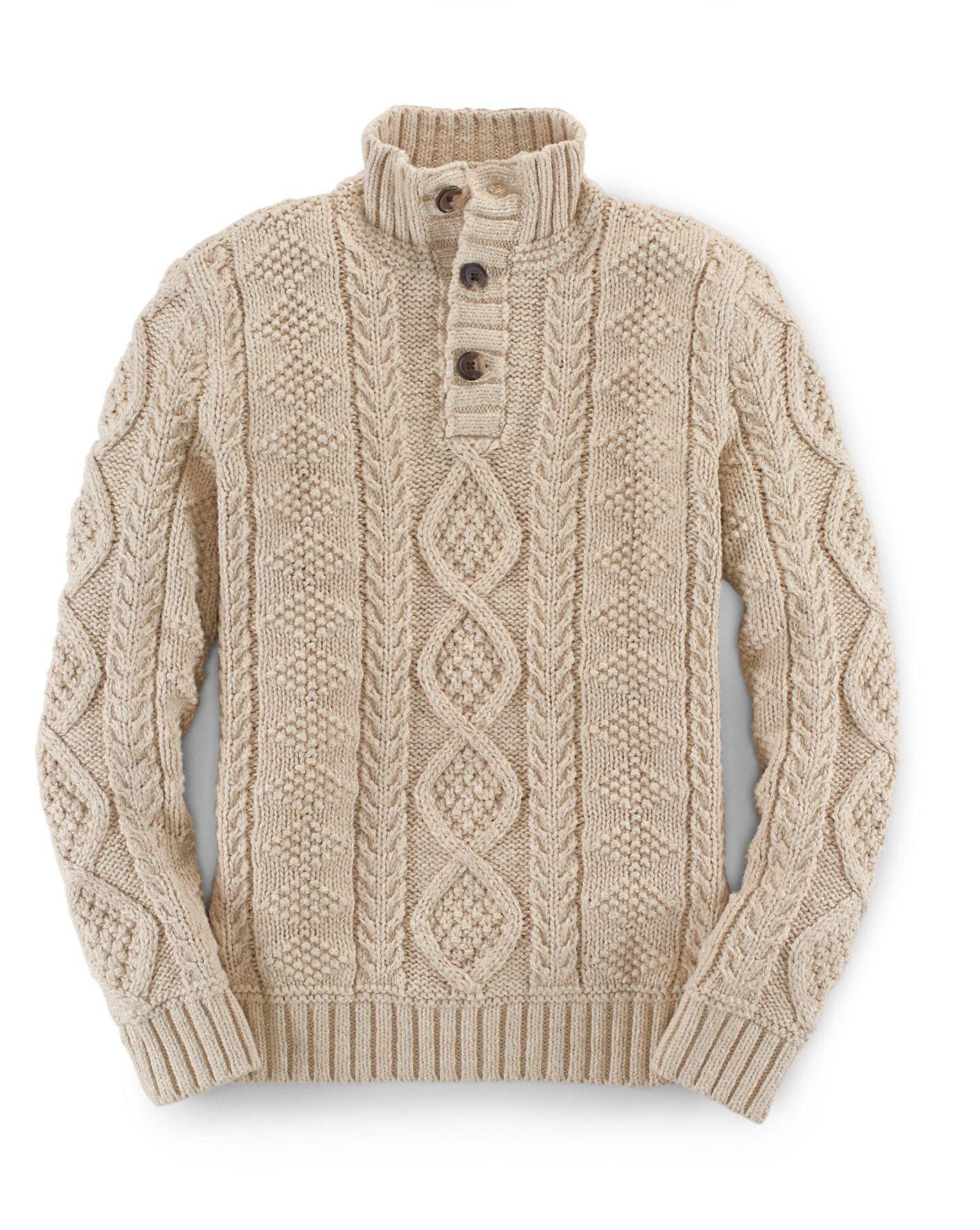 Aran-Knit Cotton Sweater - Jumpers Boys' 6-14 Years - Ralph Lauren ...