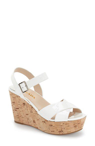a8c3e452f240 Prada Prada  Donna  Cork Sling Wedge (Women) available at  Nordstrom ...