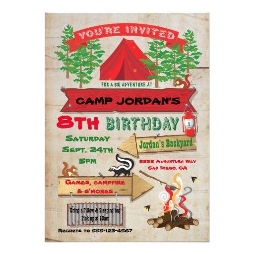 Rustic adventure camping birthday party invitation adventure rustic adventure camping birthday party invitation stopboris Choice Image