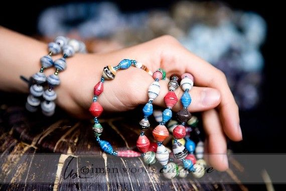 Paper Beaded Jewelry Made By Refugees In Uganda Products