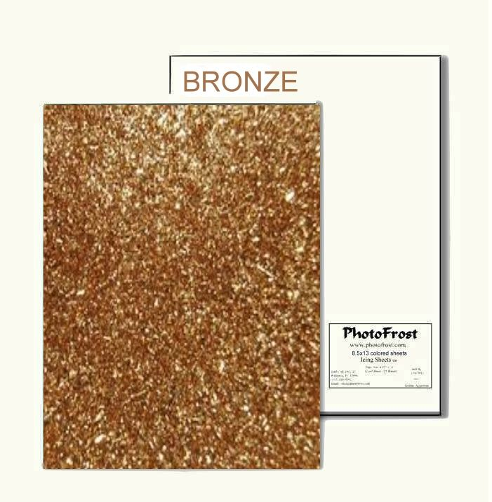 PhotoFrost Ultimate Edible Design sheets - Bronze - 12/pkg - Made in USA