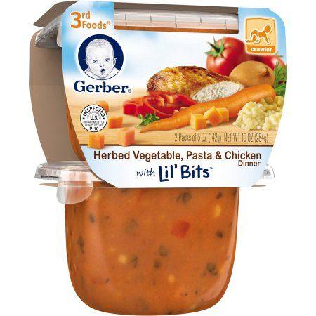 Gerber 3rd Foods Herbed Vegetable Pasta Chicken Dinner With Lil