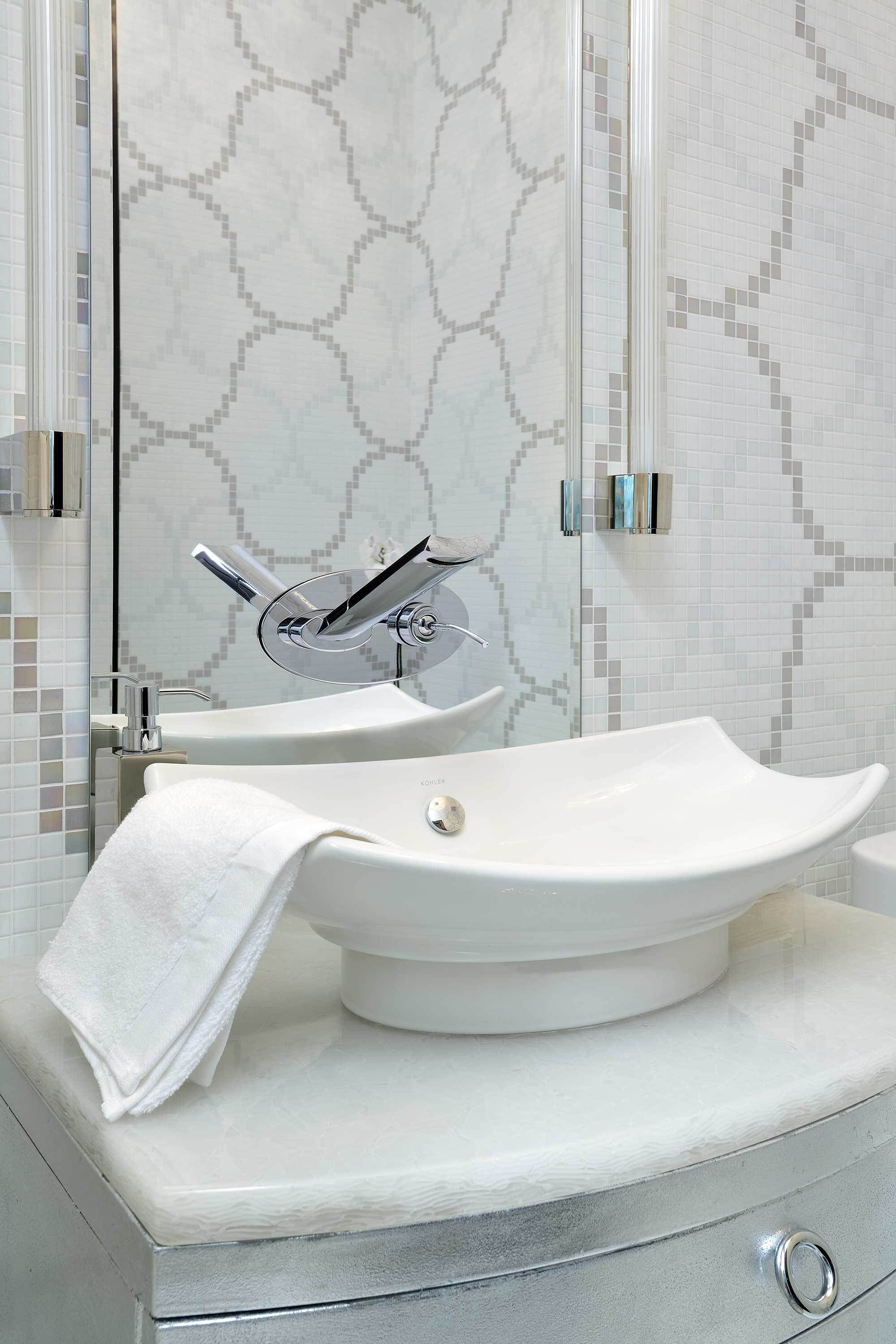 Aquabrass Martini wallmount faucet, featured in a bathroom design by ...
