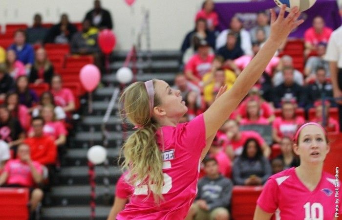 Volleyball Bearcats Sweep Cedarville Ohio Dominican Finish With 3 1 Start At Dunn Invitational Volleyball Bearcats Team Cap