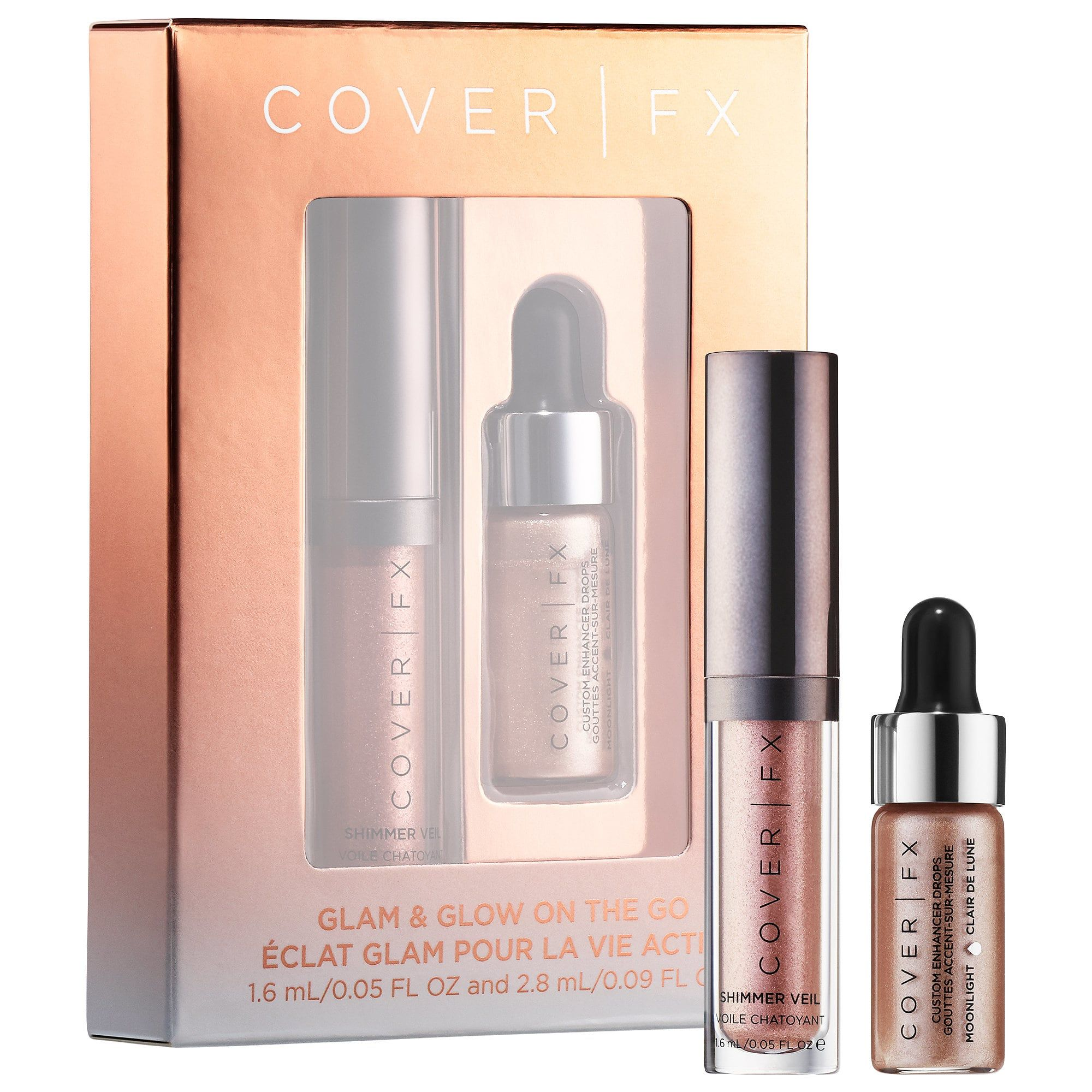 COVER FX Glam & Glow On The Go Minis Set Makeup gift