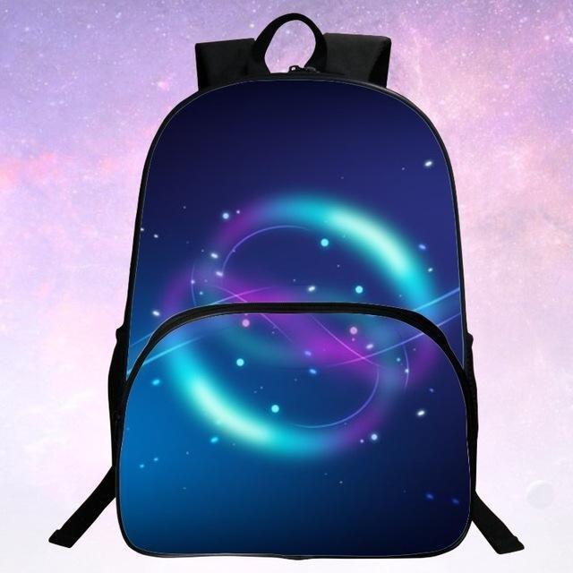 Children S Cartoon Schoolbag Women Female Students Backpack Shoulder Bag  Cute Galaxy Print Female Mochila For Girls Kids b3e39d8c8684d