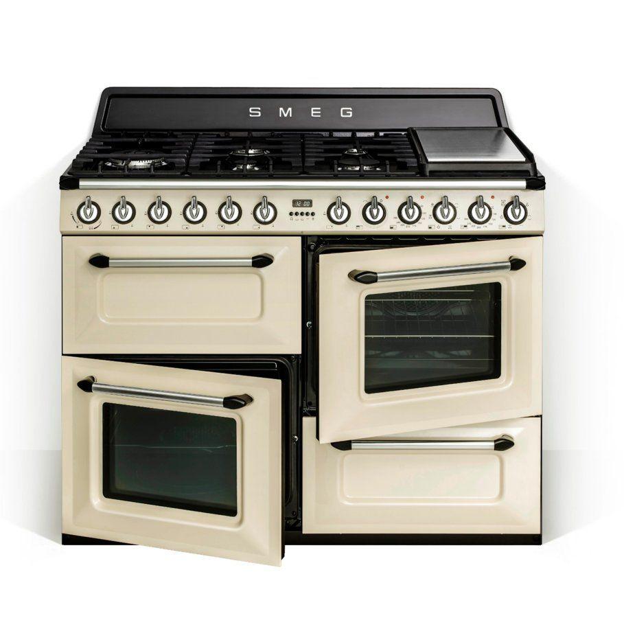 Cocina Smeg Tr4110pf 7 Quemadores Encimera De Gas Natural 2 Hornos Clase Aa Cocina De Gas Cocinas De Restaurantes Hornos