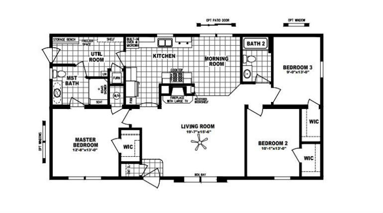 Hearthside 5228 Schult Mobile Home Built In Minnesota This Home Offers A Well Thought Floor Plan Complete With Fireplace Home Design Double Wide Floor P