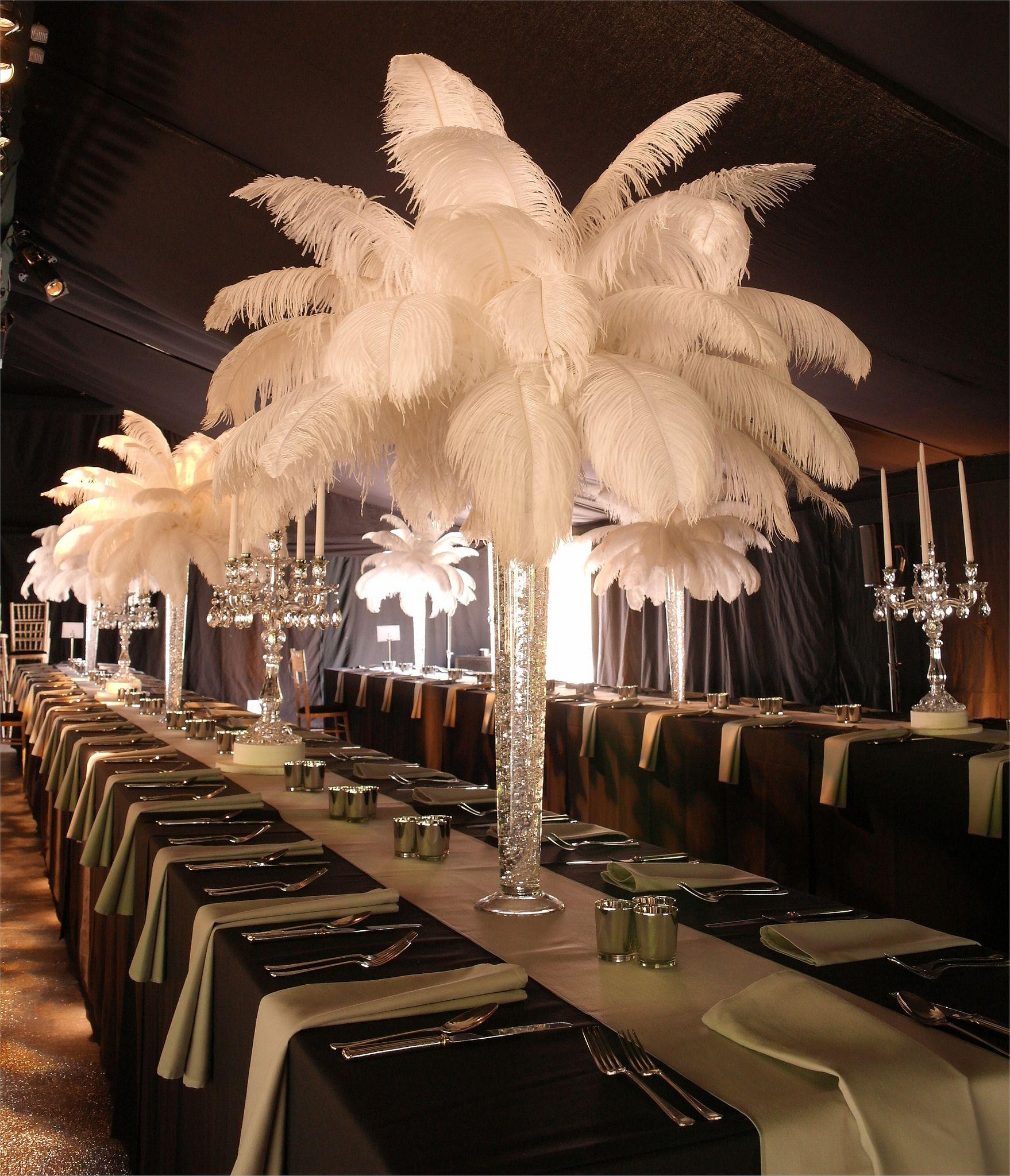 Feather Centerpieces, Ostrich