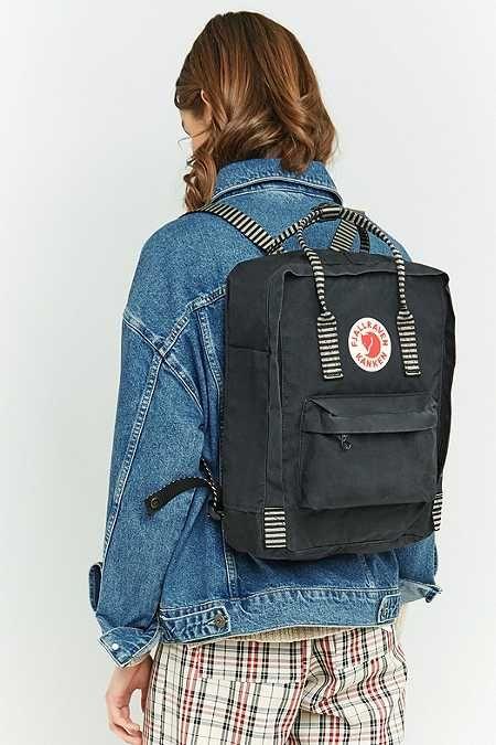 21bda8fc7 Fjallraven Kanken Black Striped Backpack | Stuff I want in 2019 ...