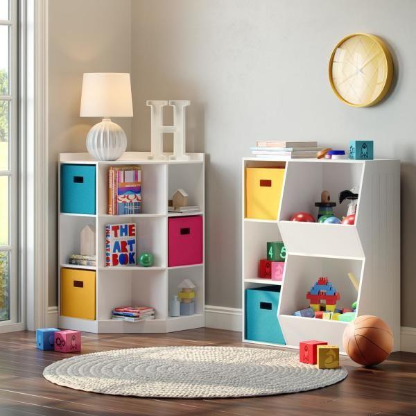 RiverRidge Home 3-Cubby, 2-Veggie Bin Floor Cabinet in White 02-146 - The Home Depot