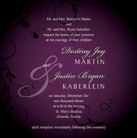 Wedding Invitation Etiquette – Reception Party Invitations