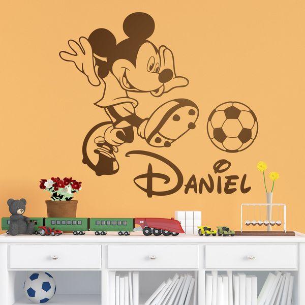 Vinilos Infantiles: Mickey Mouse Fútbol 3 | names | Pinterest