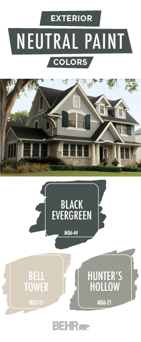 Refresh The Exterior Of Your Home With This Trendy Color Palette From Behr Paint Black E Exterior Paint Colors For House House Exterior Home Exterior Makeover