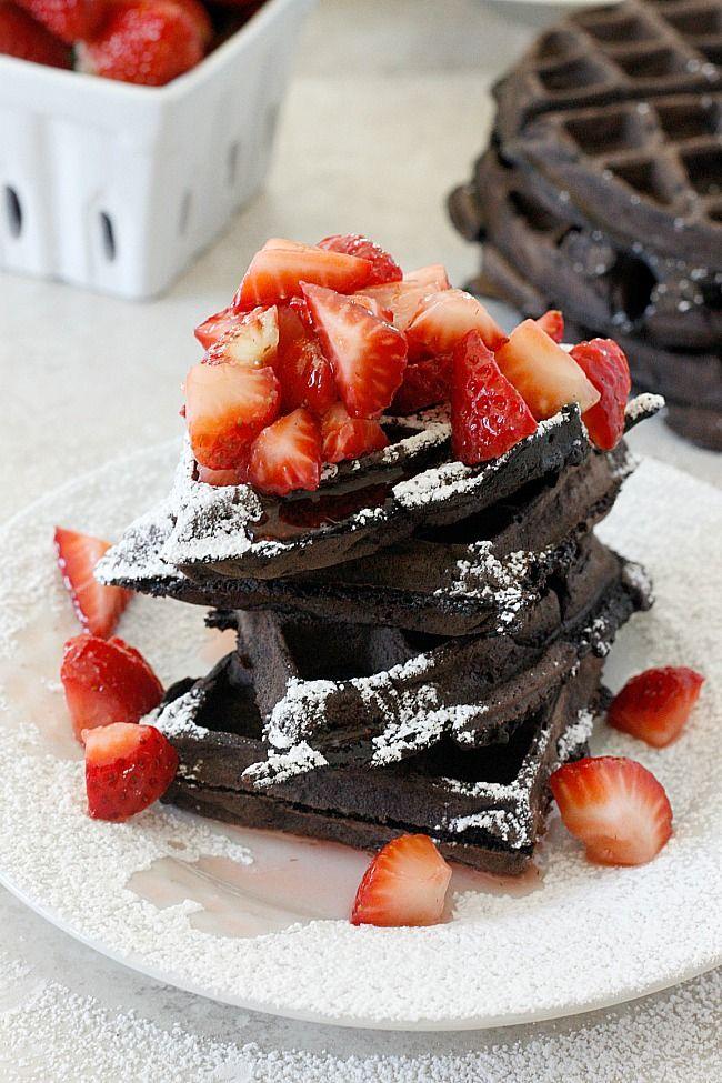 gaufres chocolat noix de coco en cuisine les gaufres pinterest dessert chocolat et. Black Bedroom Furniture Sets. Home Design Ideas