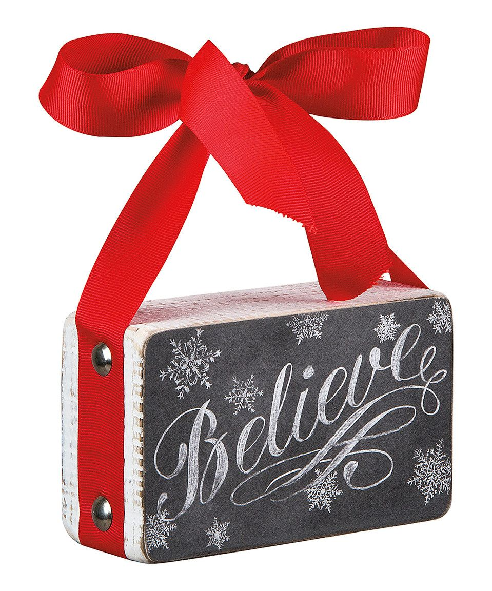 Look what I found on #zulily! 'Believe' Chalk Box Sign by Primitives by Kathy #zulilyfinds