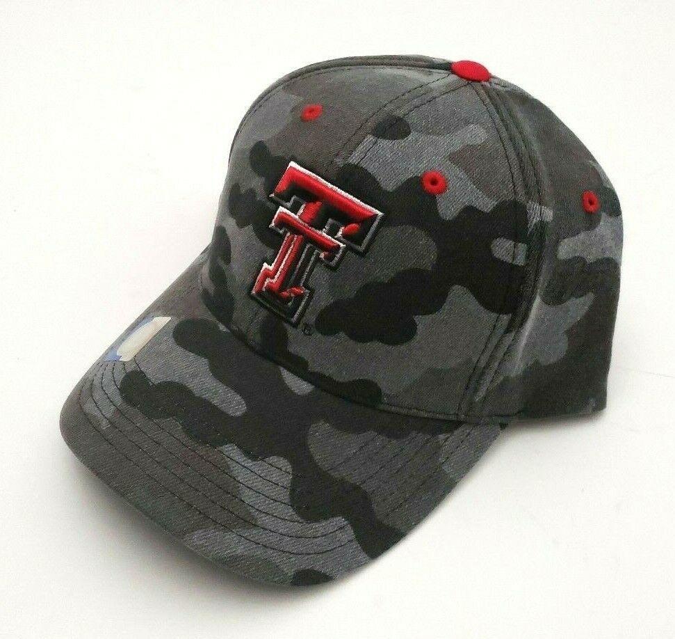 Texas Tech Red Raiders Gray Camouflage Baseball Hat Adjustable Strapback Osfm Collegiateheadwear T In 2020 Texas Tech Red Raiders Camouflage Baseball Hat Red Raiders