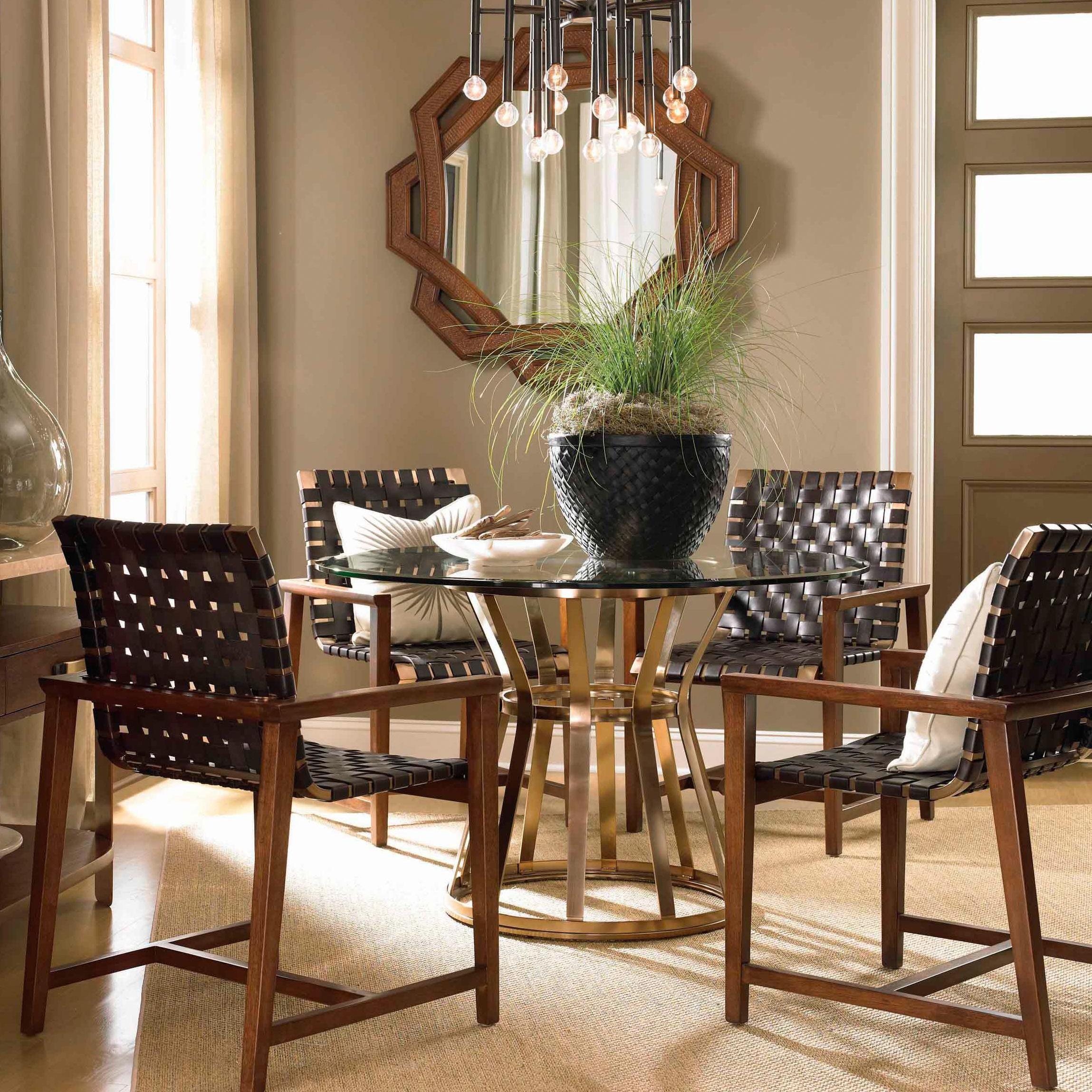 Renderings Voussoir Pedestal Dining Table W Glass Topdrexel Entrancing Drexel Heritage Dining Room Design Inspiration