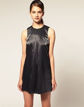 Enlarge ASOS Shift Dress in Metallic
