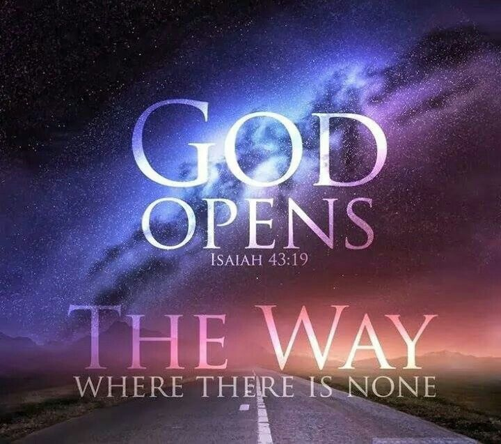 God Opens...