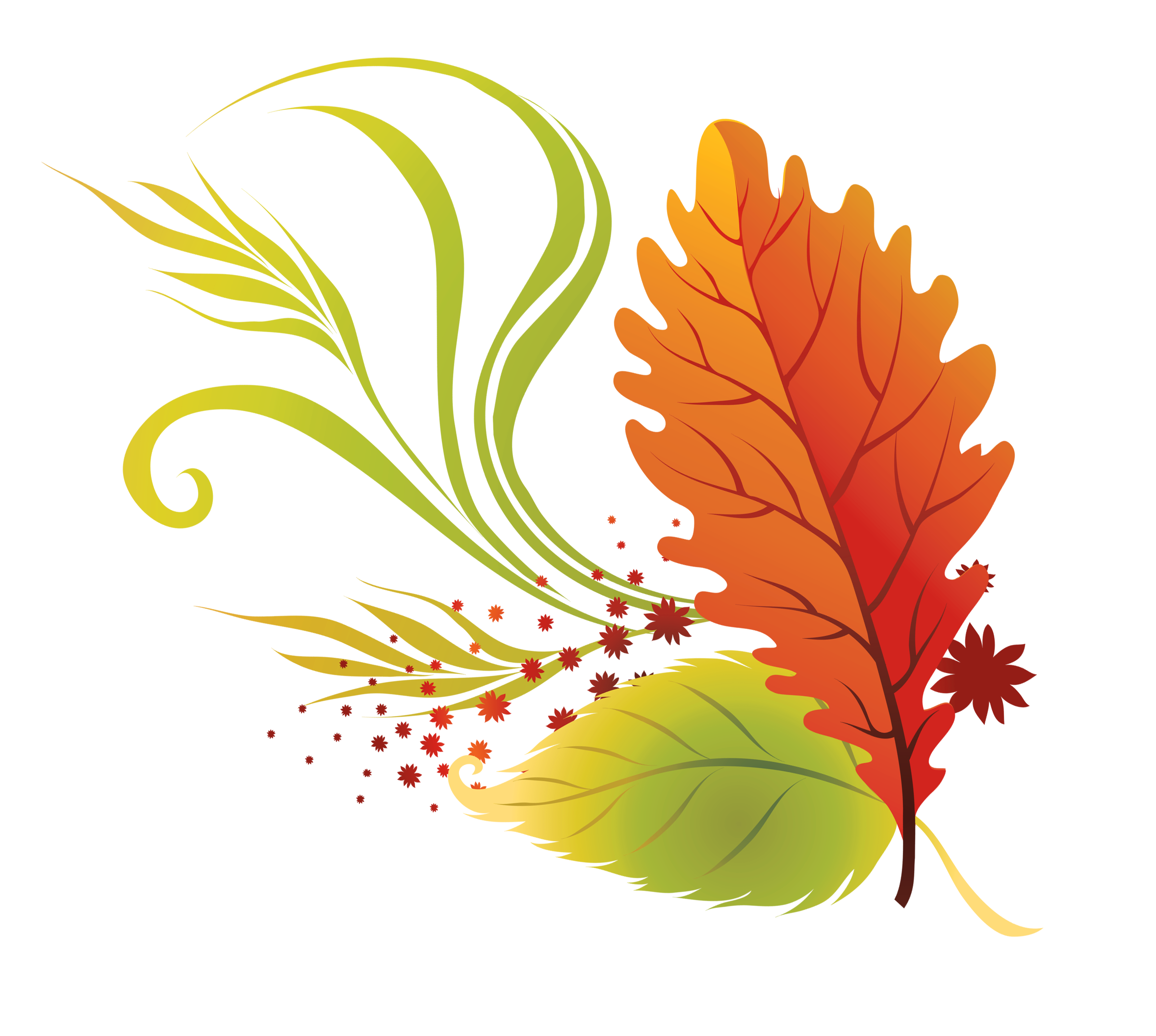 fall leaves clip art beautiful