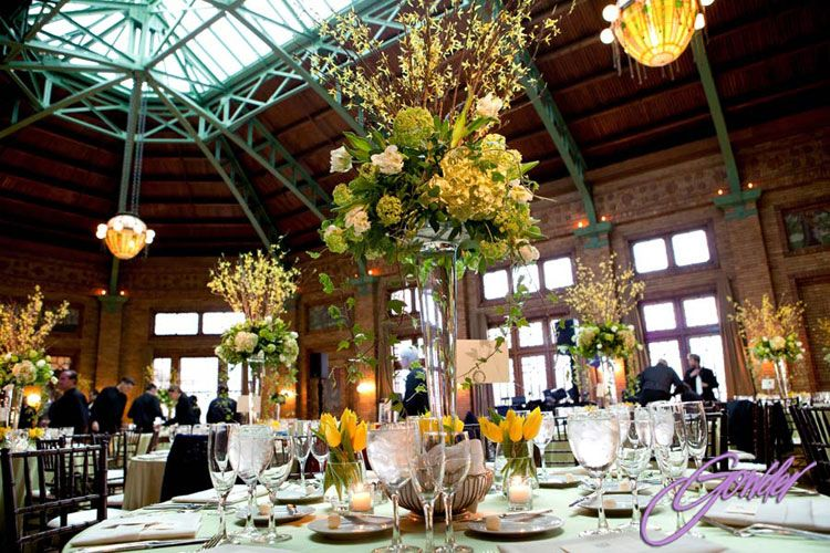 Beautiful wedding reception at Cafe Brauer (Lincoln Park