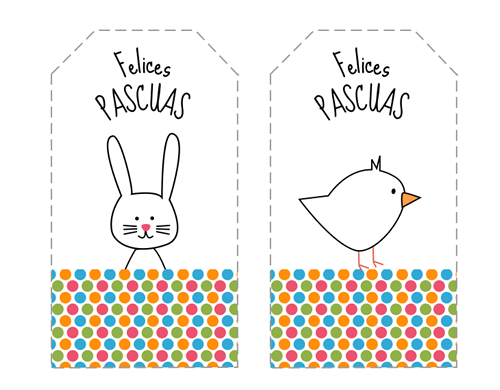Divertidas etiquetas de Pascua para imprimir | Imprimir gratis ...