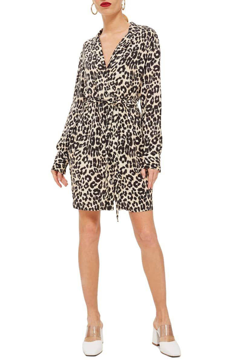 fed83a7a70f8 Leopard Print Pajama Shirtdress