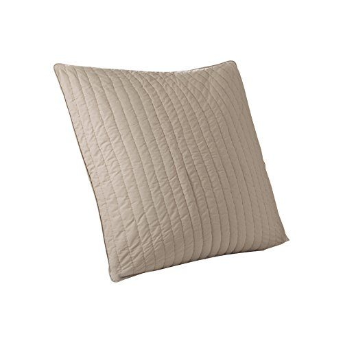 INK IVY Camila 200TC Quilted Euro Sham, Taupe -- Click affiliate link Amazon.com on image to review more details.