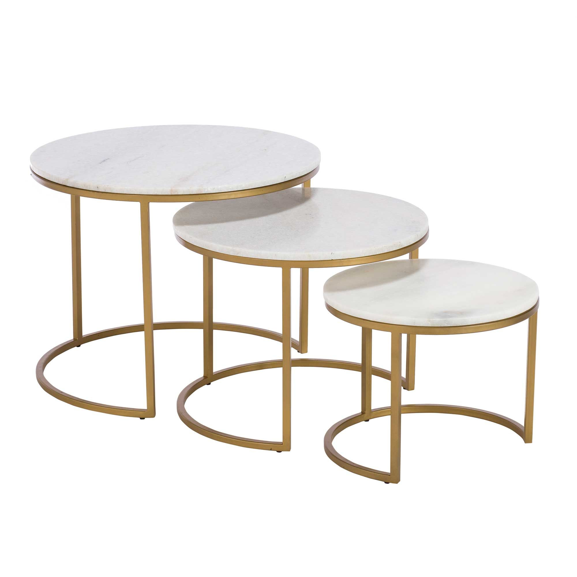 Excellent Gower Marble Nest Of Tables Gold Tables Barker Evergreenethics Interior Chair Design Evergreenethicsorg