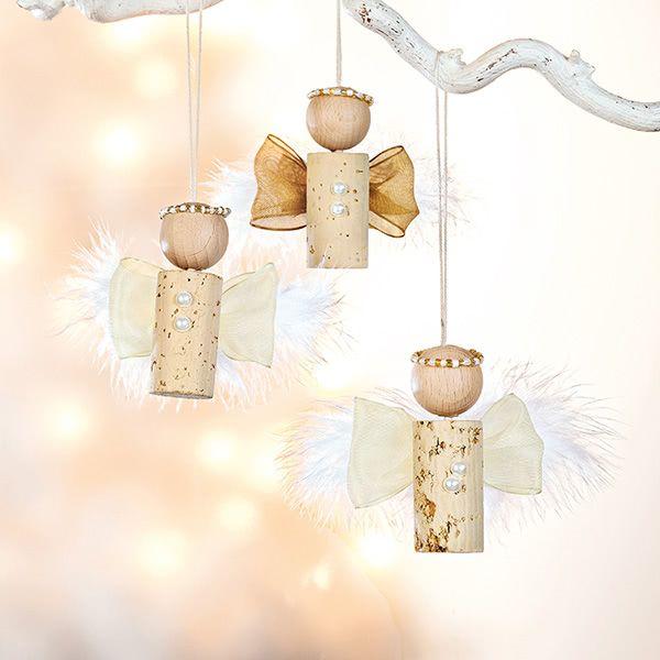 Bastelanleitung - Weihnachtliche Korken-Engel