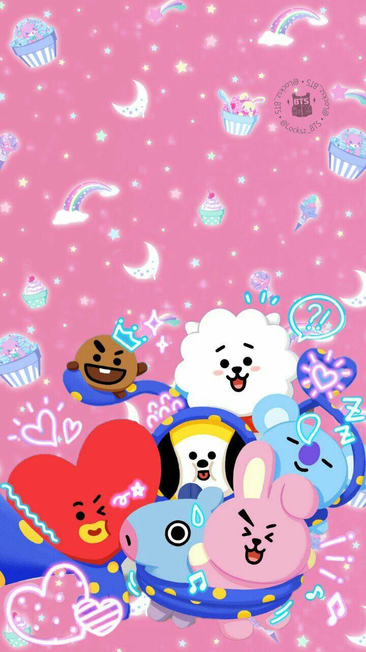 Bt21 Justyourstargirl Wallpaper Lucu Latar Belakang Animasi Wallpaper Ponsel Wallpaper boneka bts lucu