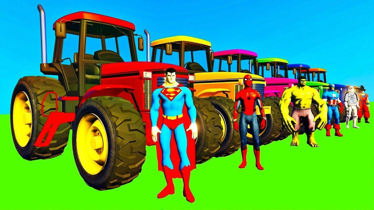 Tracteur Dessins Animés pour Enfants & Vidéo avec Voitures