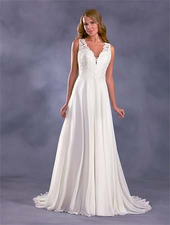 Lace back wedding dress alfred angelo