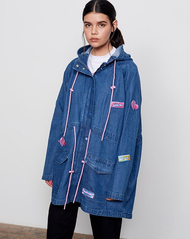 cd896ab5ad59 Lazy Oaf Bubble Denim Parka - View all - SALE - Womens £90