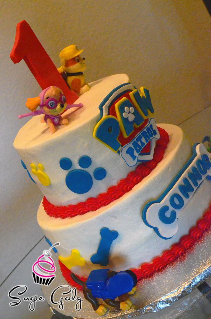 Paw Patrol First Birthday Cake In Austin Texas By Sugie Galz
