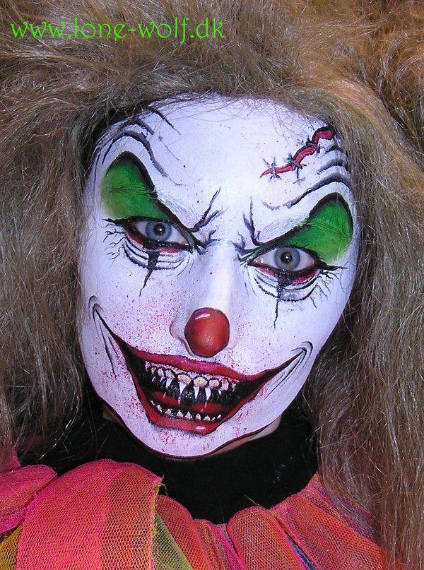 Evil Wolf Face Evil clown by l...