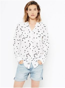 6ee7d8c7358ba Equipment Slim Signature Silk Shirt in Bright White Star Print ...