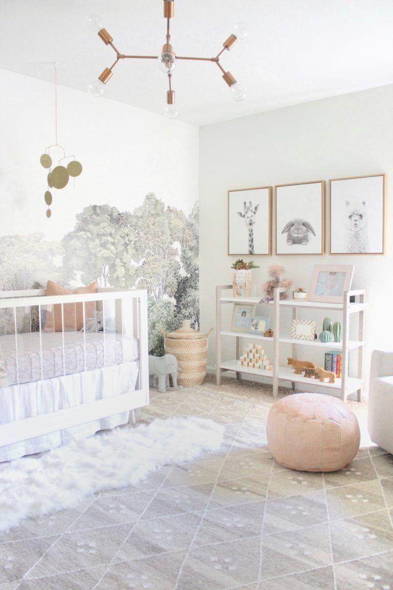 Serene, Neutral Girl Nursery inspired by Nature Nursery