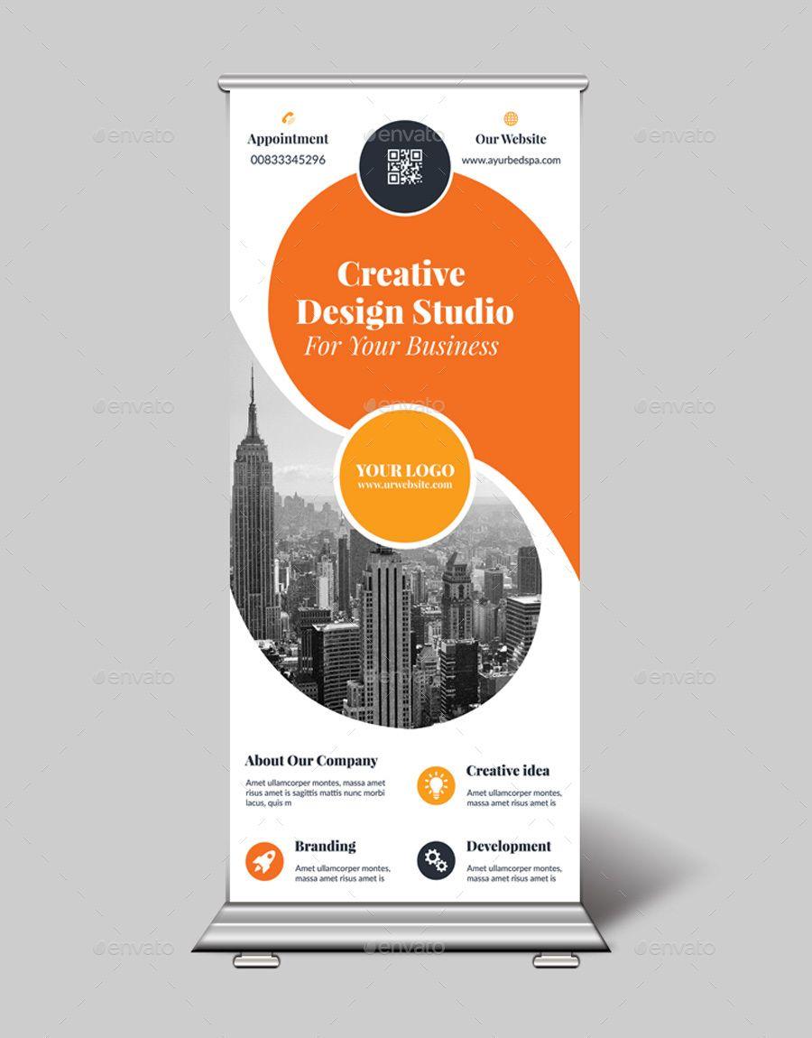 Real Estate Roll Up Banner Sk Banner Design Layout Banner Design Inspiration Rollup Banner Design